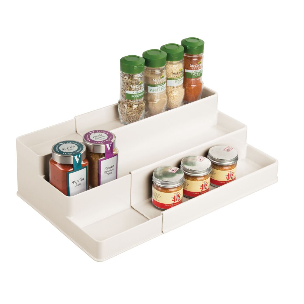 mDesign-Expandable-Kitchen-Cabinet-Pantry-Organizer-Spice-Rack thumbnail 35