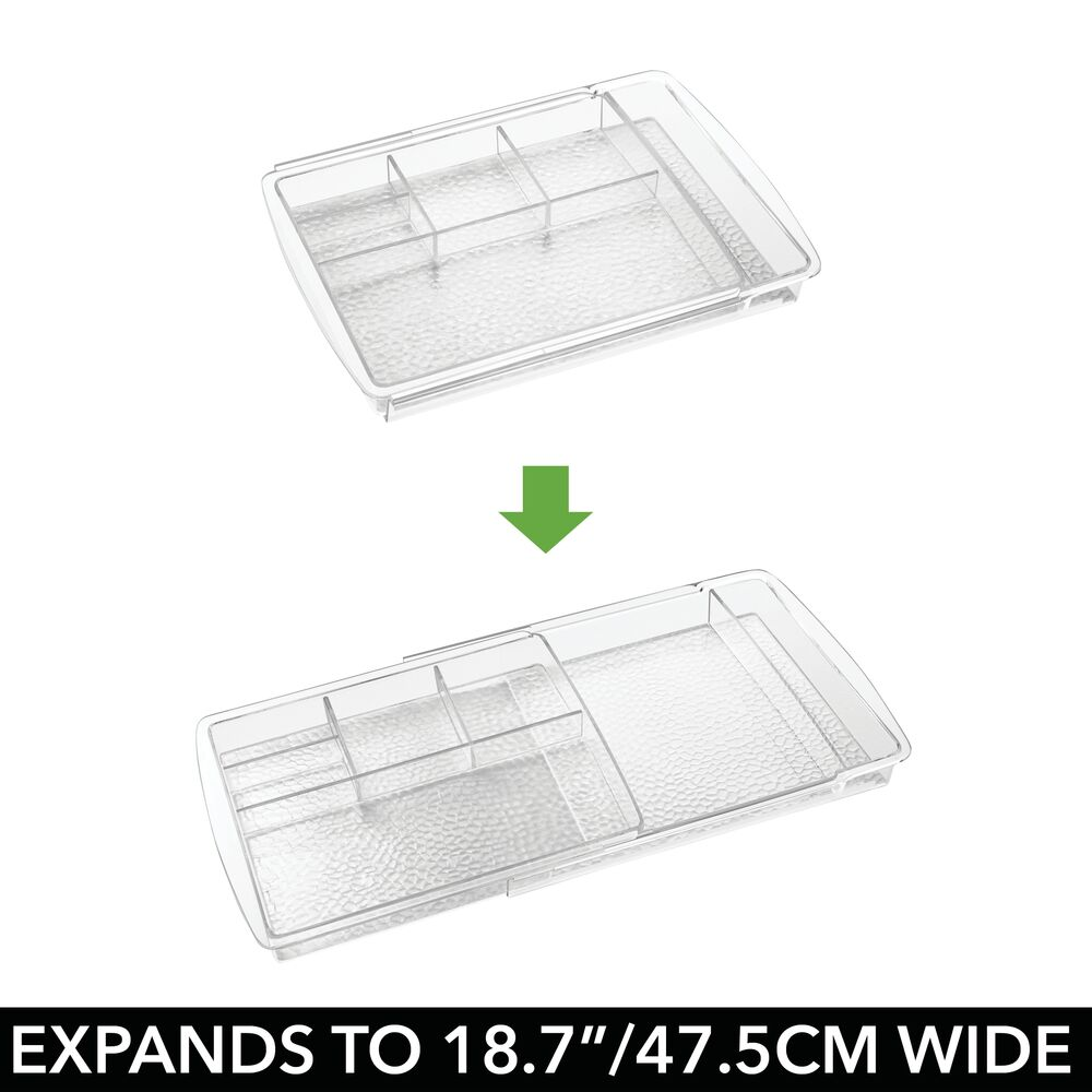 mDesign-Expandable-Makeup-Organizer-Tray-for-Bathroom-Drawers thumbnail 6