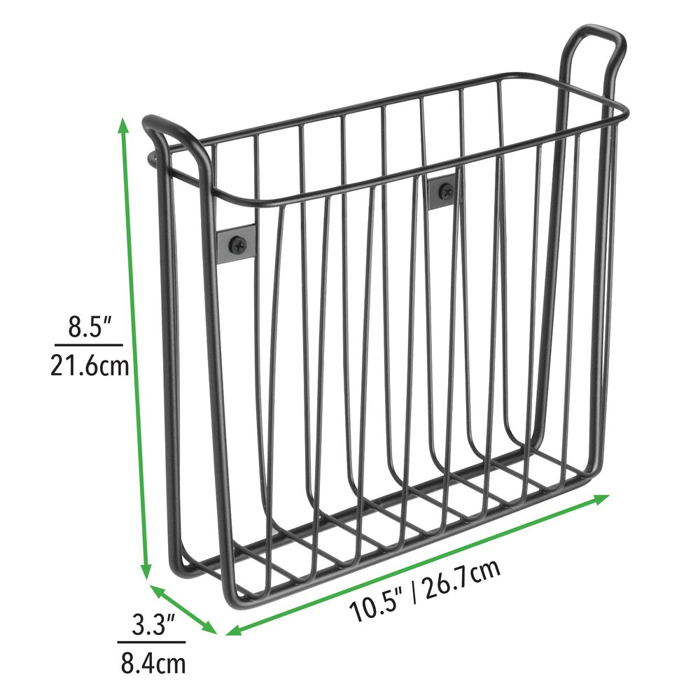 mDesign-Metal-Wall-Mount-Magazine-Book-Holder-Compact-Rack thumbnail 24