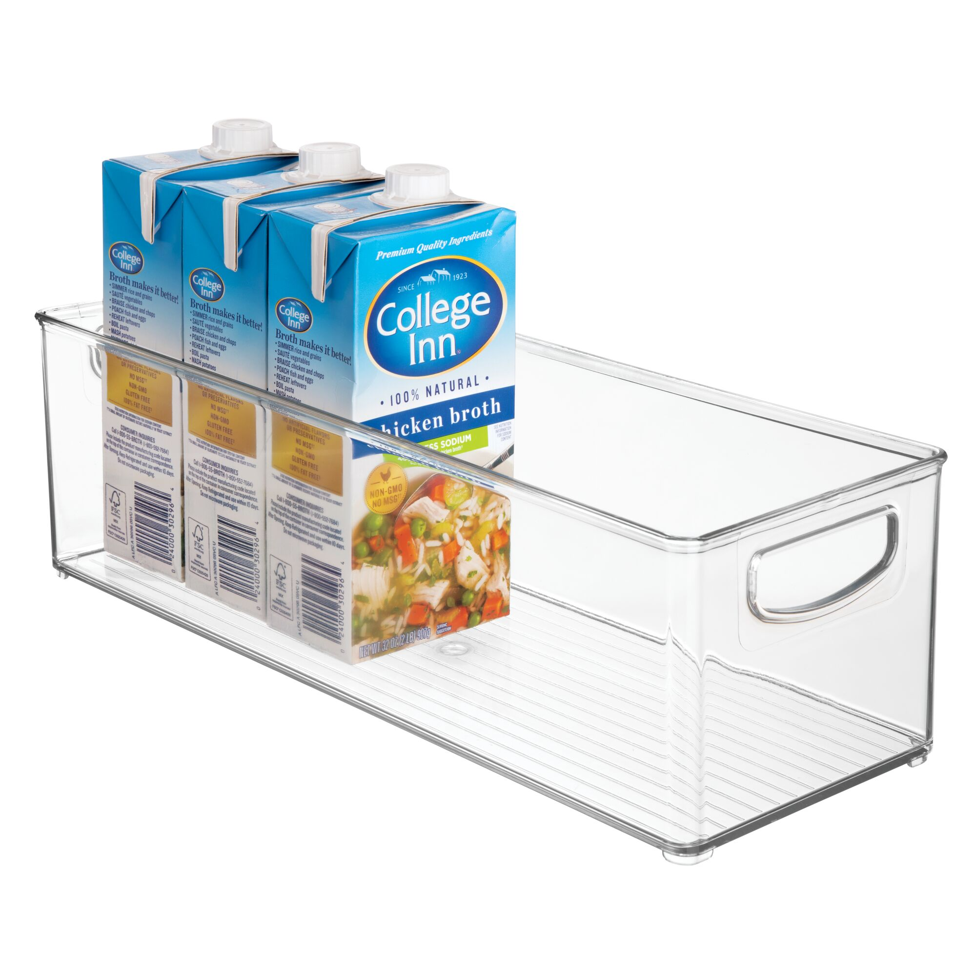 mDesign Plastic Kitchen Pantry Cabinet Food Storage with ...