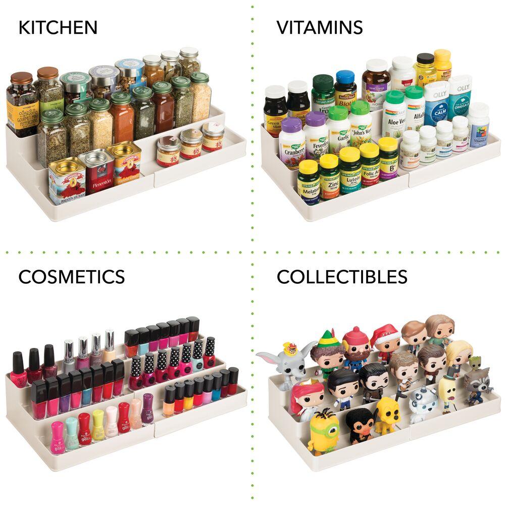 mDesign-Expandable-Kitchen-Cabinet-Pantry-Organizer-Spice-Rack thumbnail 34