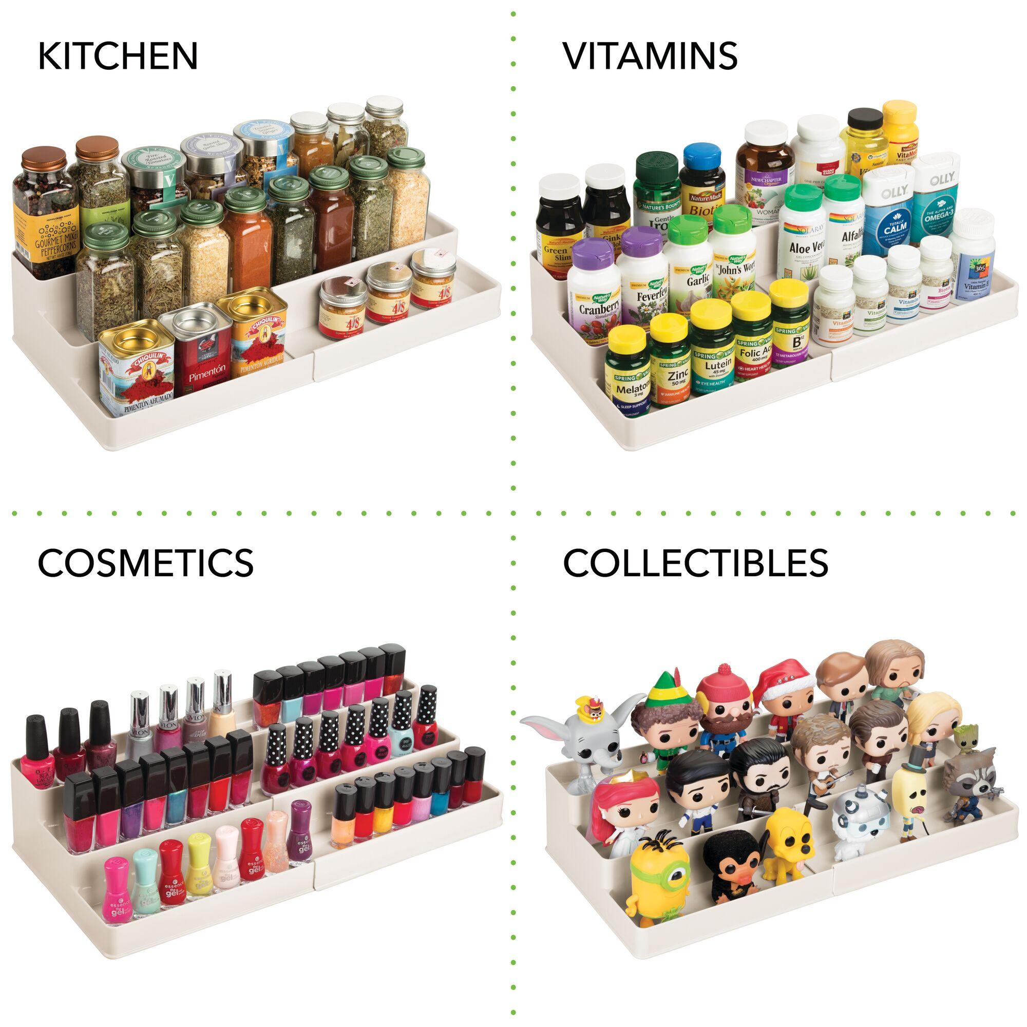 mDesign-Expandable-Kitchen-Cabinet-Pantry-Organizer-Spice-Rack thumbnail 39