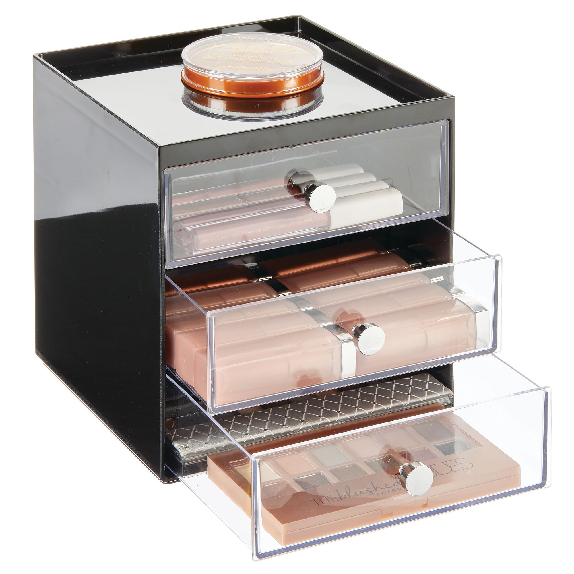 mDesign-Plastic-Makeup-Storage-Organizer-Cube-3-Drawers thumbnail 19
