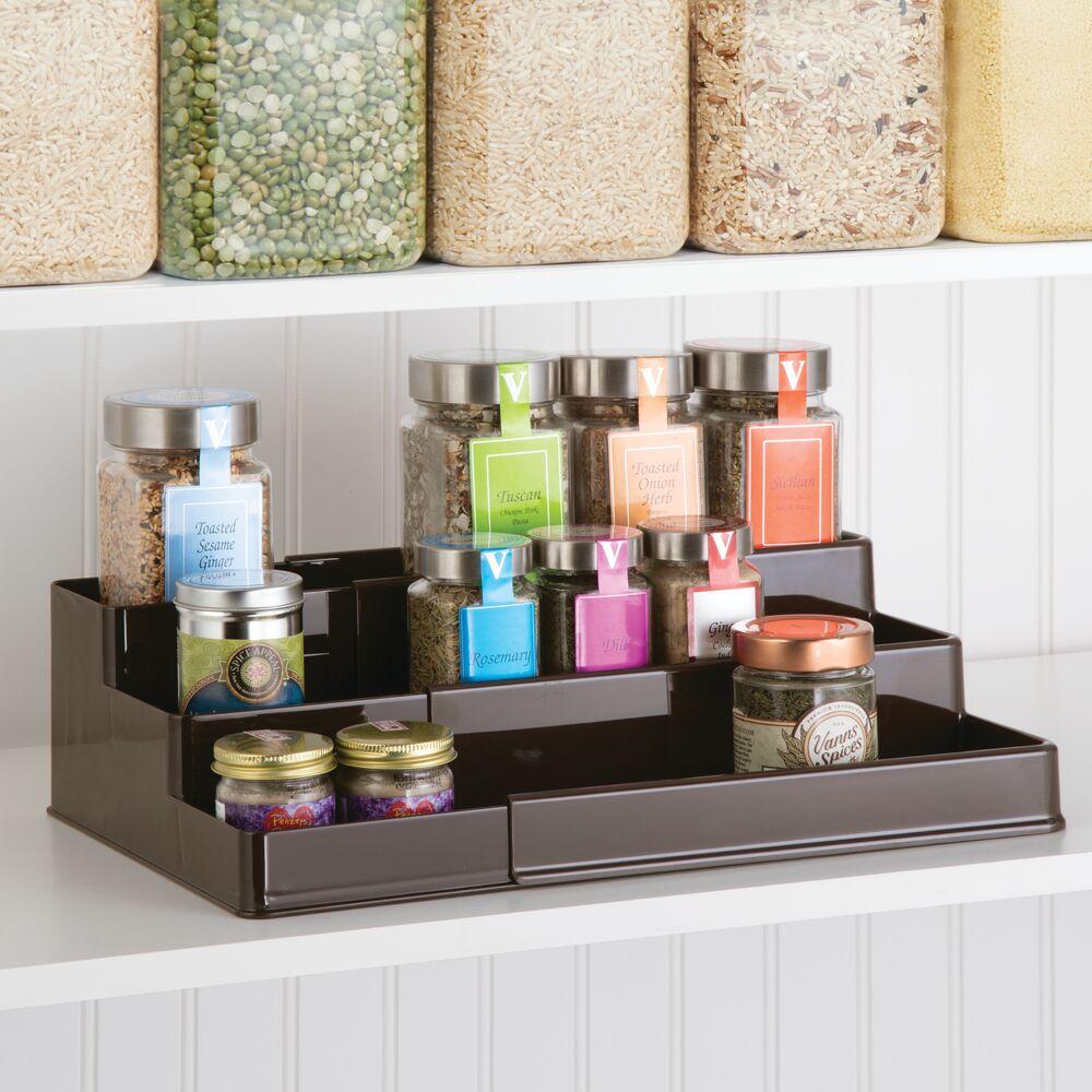 mDesign-Expandable-Kitchen-Cabinet-Pantry-Organizer-Spice-Rack thumbnail 11
