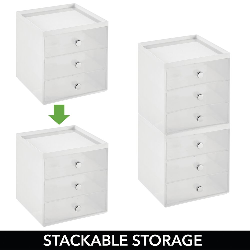 mDesign-Plastic-Makeup-Storage-Organizer-Cube-3-Drawers thumbnail 73