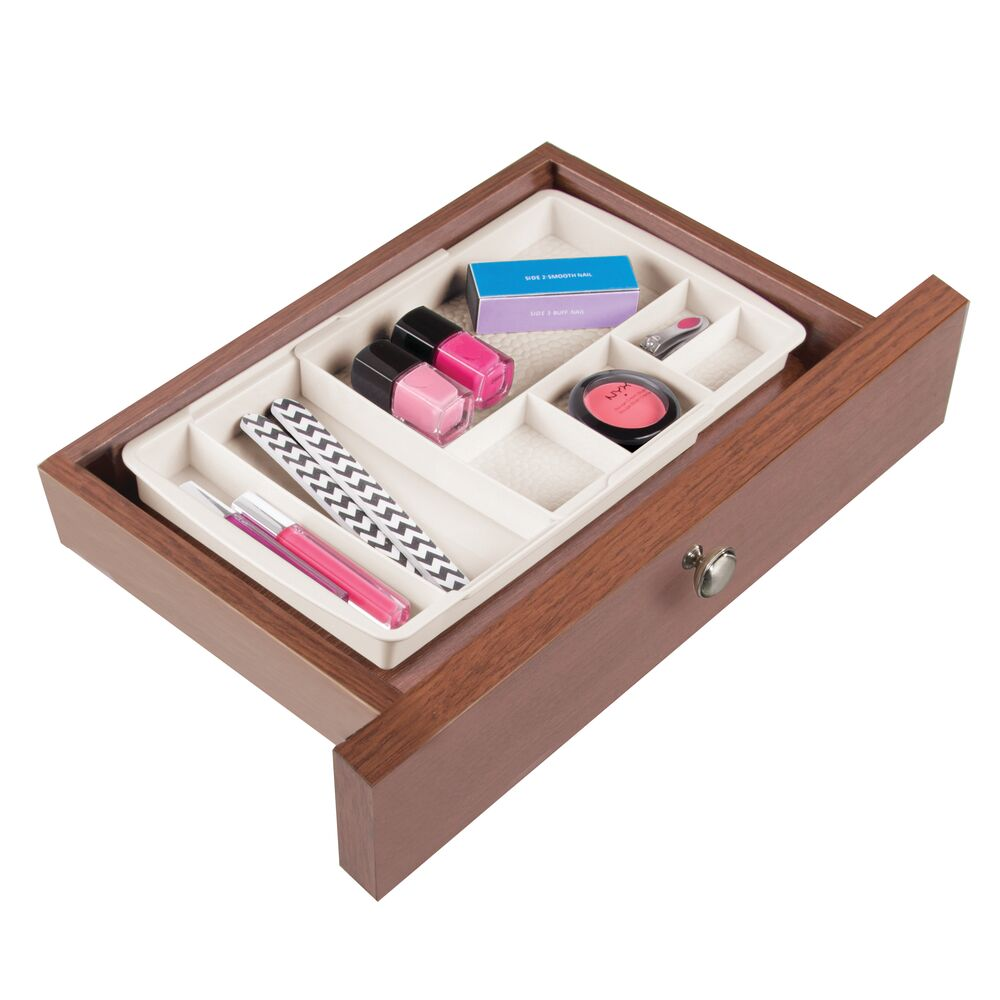 mDesign-Expandable-Makeup-Organizer-Tray-for-Bathroom-Drawers thumbnail 16