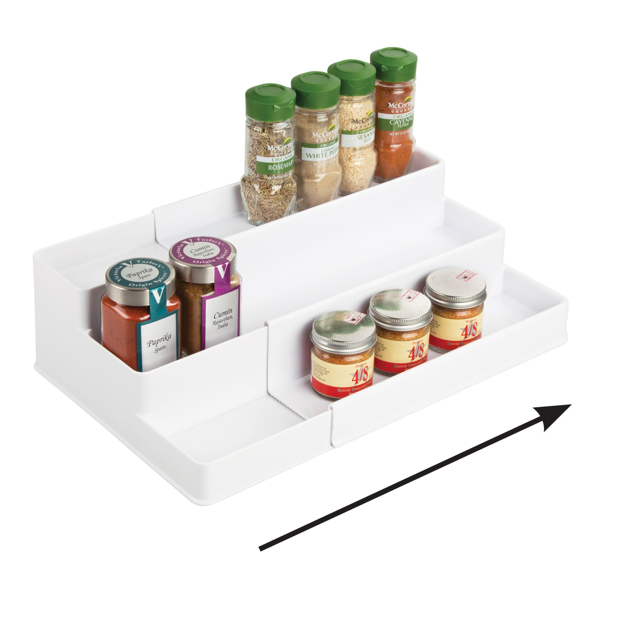 mDesign-Expandable-Kitchen-Cabinet-Pantry-Organizer-Spice-Rack thumbnail 59