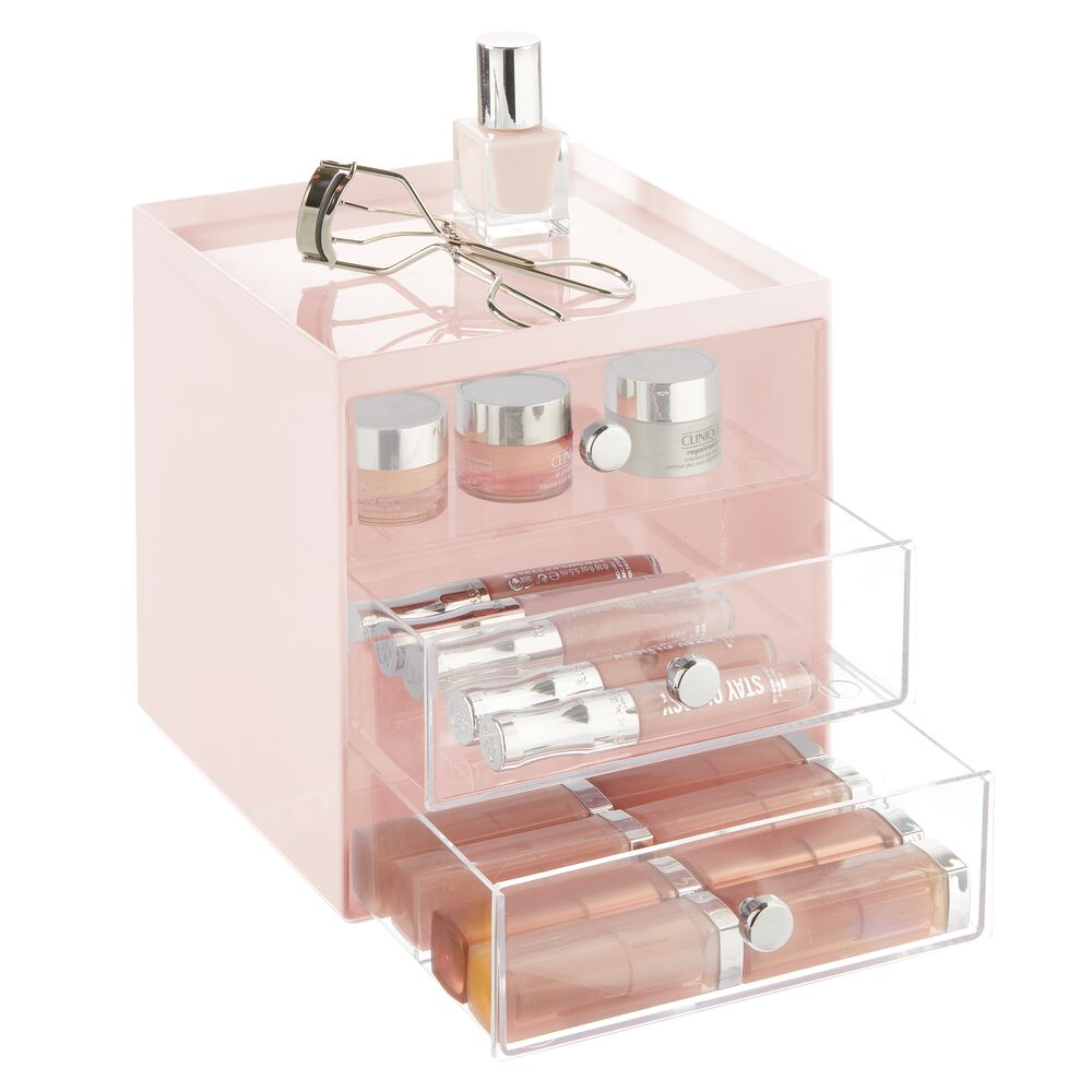 mDesign-Plastic-Makeup-Storage-Organizer-Cube-3-Drawers thumbnail 49