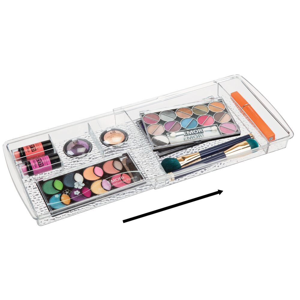 mDesign-Expandable-Makeup-Organizer-Tray-for-Bathroom-Drawers thumbnail 8