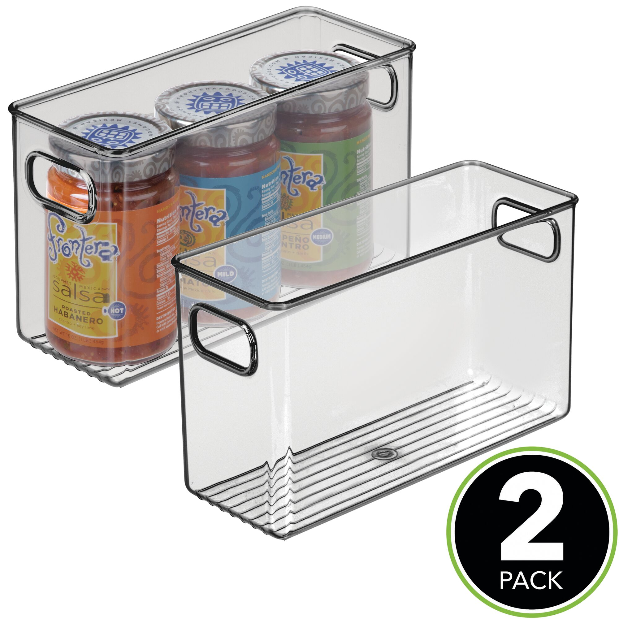 mDesign Plastic Kitchen Pantry Cabinet Food Storage Bin ...