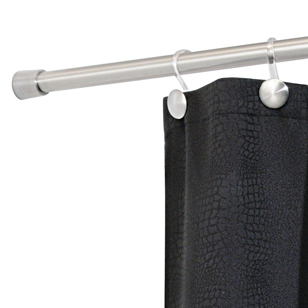 IDesign 72 Wall Mount Bathroom Shower Curtain Rod