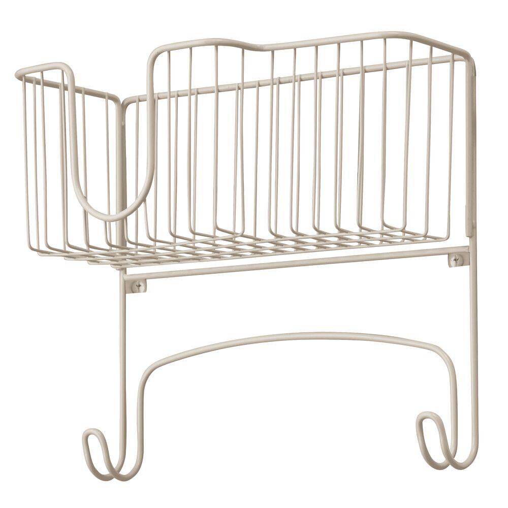 mDesign-Wall-Mount-Ironing-Board-Holder-Large-Storage-Basket thumbnail 46
