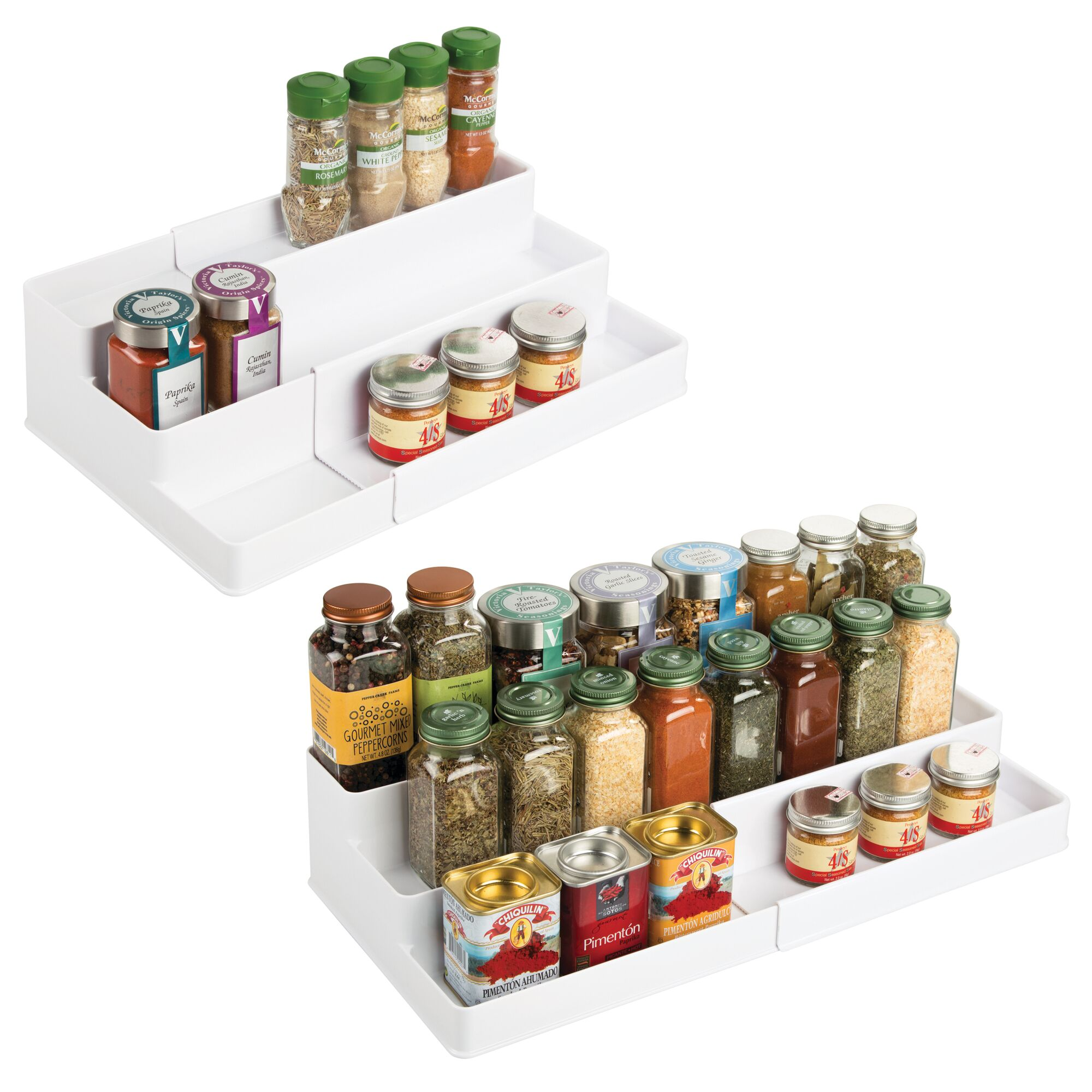 mDesign-Expandable-Kitchen-Cabinet-Pantry-Organizer-Spice-Rack thumbnail 57