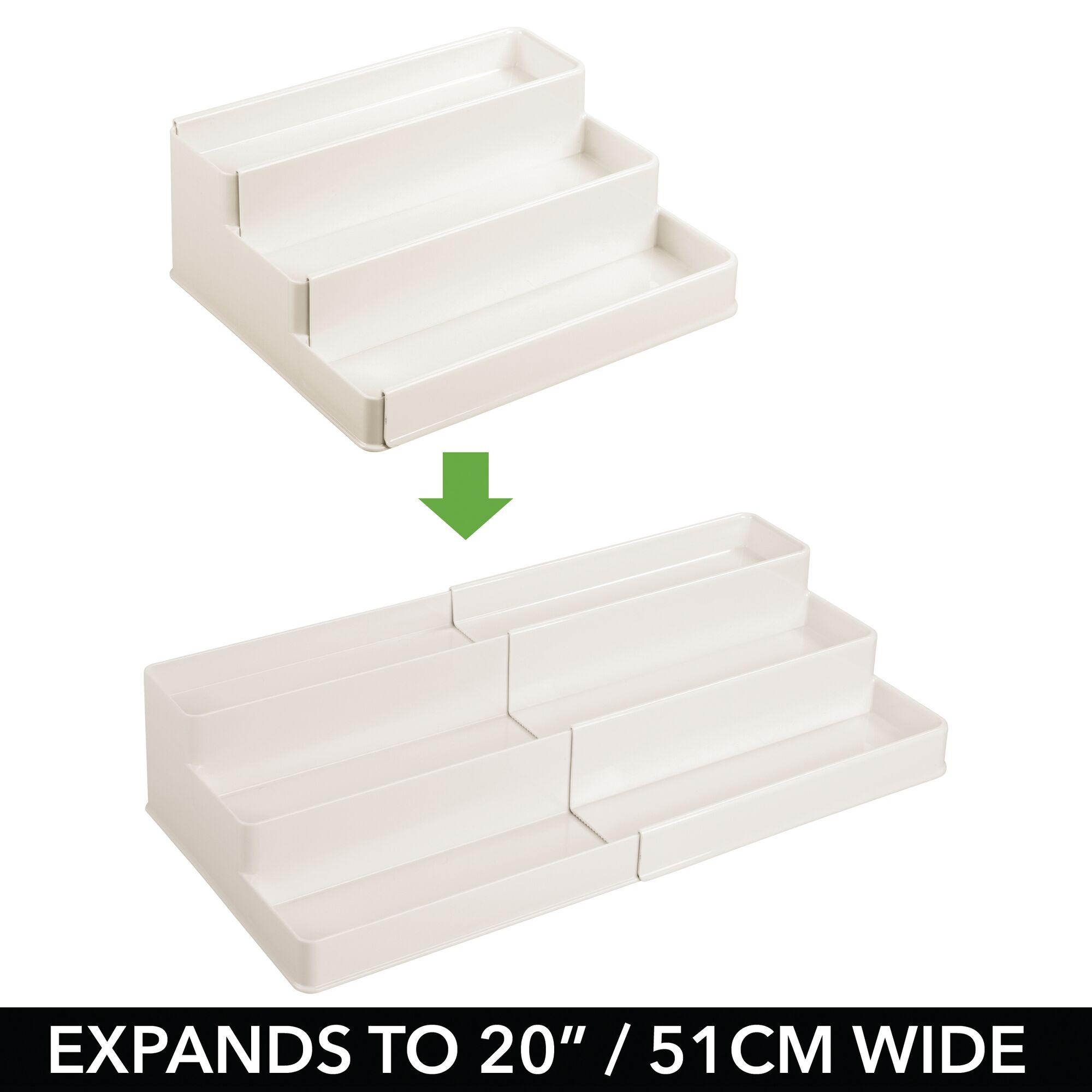 mDesign-Expandable-Kitchen-Cabinet-Pantry-Organizer-Spice-Rack thumbnail 38