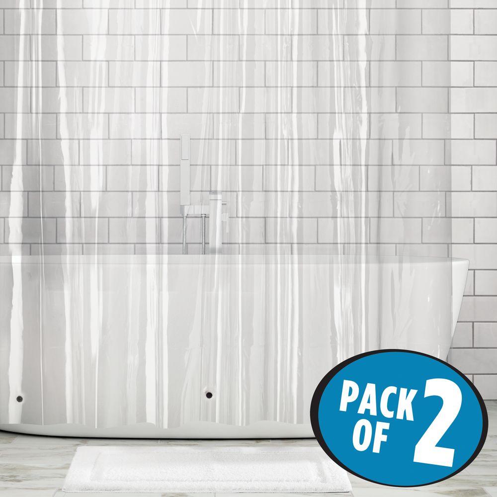 mDesign-Premium-Waterproof-Vinyl-Shower-Curtain-Liner-72-034-x-72-034 miniatuur 12
