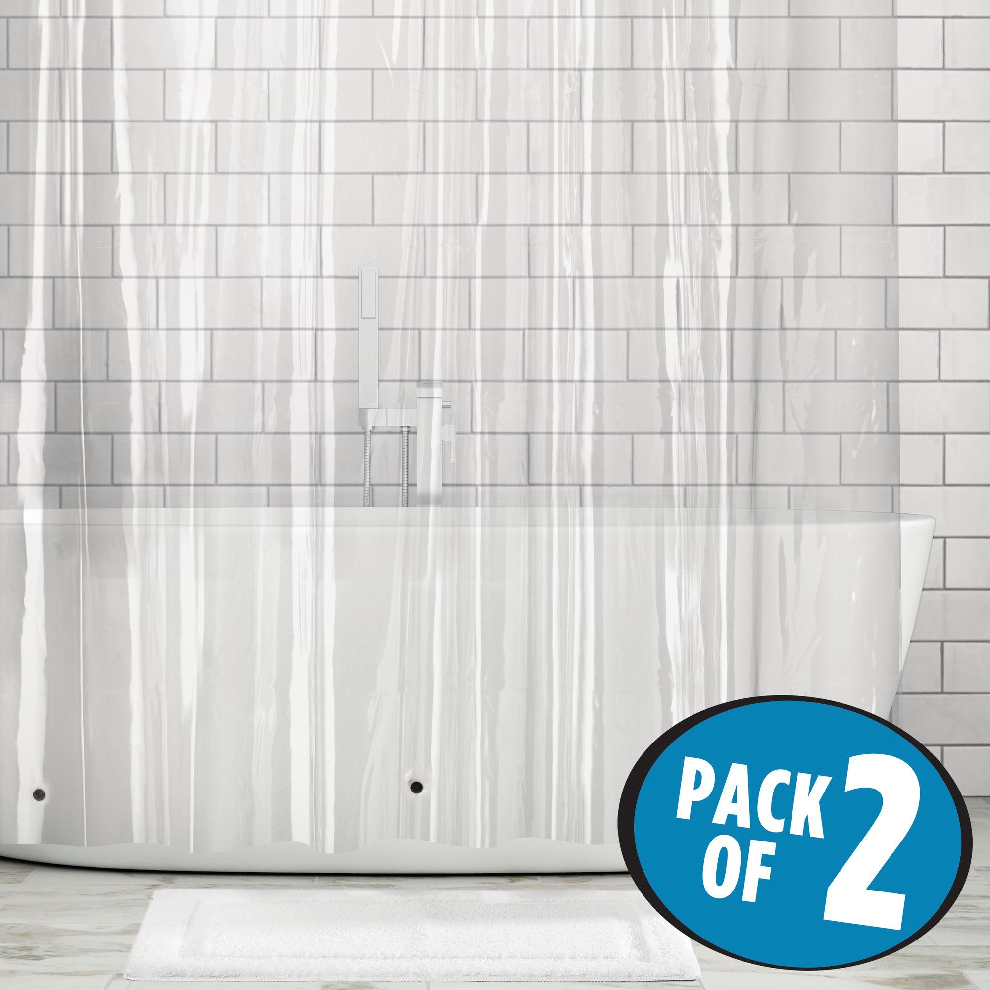 mDesign-Premium-Waterproof-Vinyl-Shower-Curtain-Liner-72-034-x-72-034 miniatuur 19