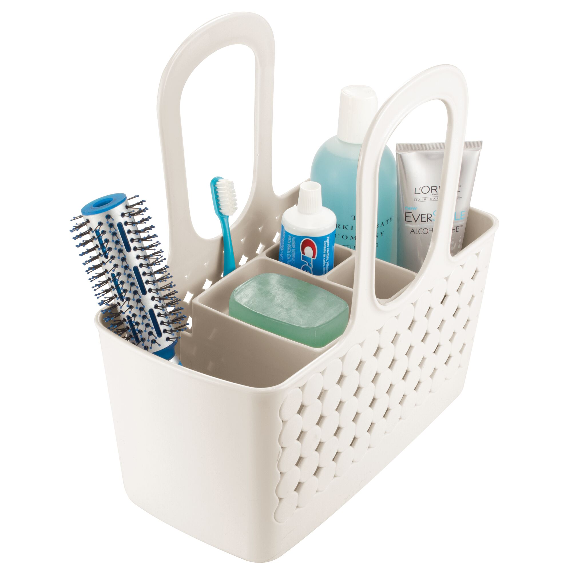 Mdesign Plastic Bathroom Shower Tote Divided College Dorm Shower