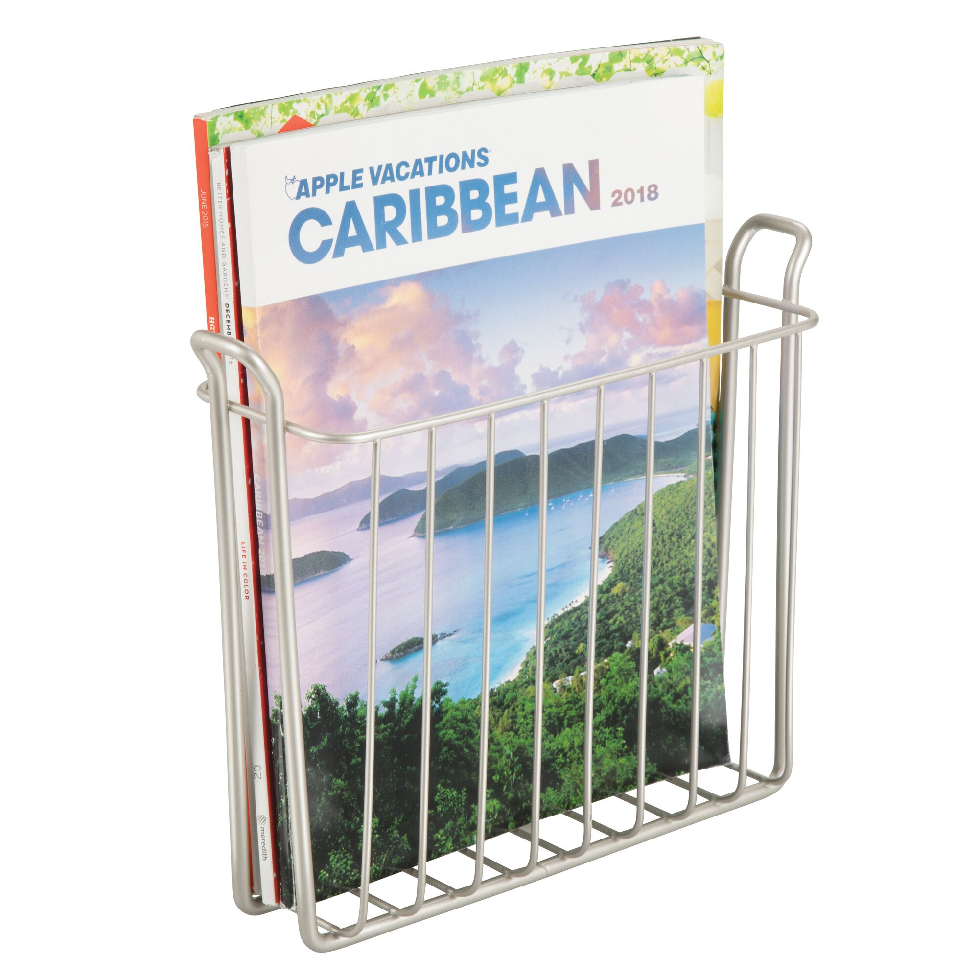 mDesign-Metal-Wall-Mount-Magazine-Book-Holder-Compact-Rack thumbnail 50