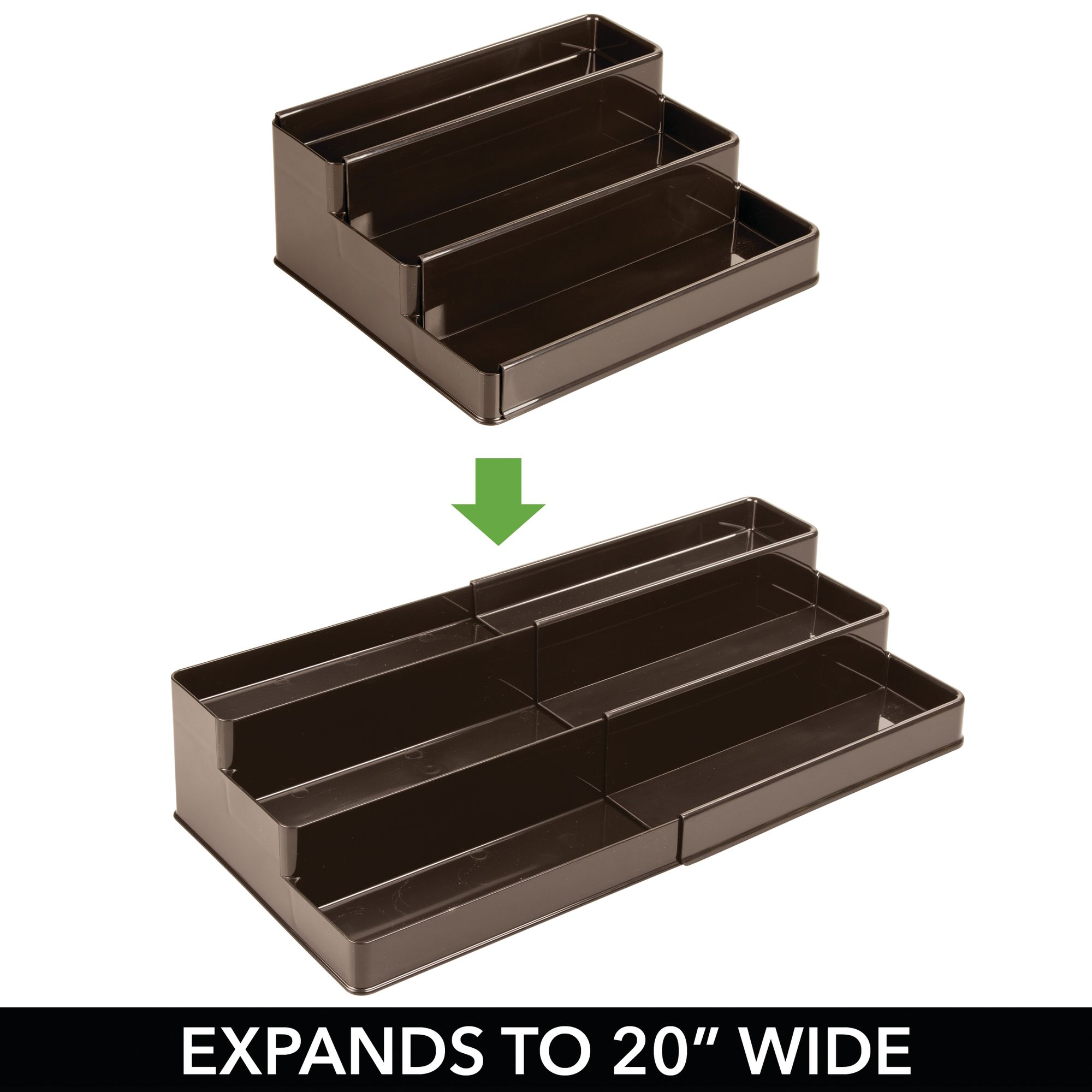 mDesign-Expandable-Kitchen-Cabinet-Pantry-Organizer-Spice-Rack thumbnail 20
