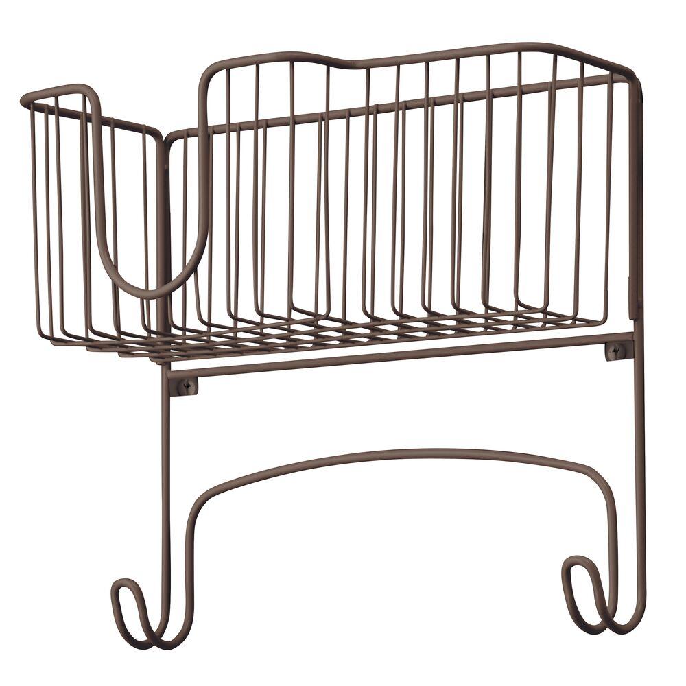 mDesign-Wall-Mount-Ironing-Board-Holder-Large-Storage-Basket thumbnail 13