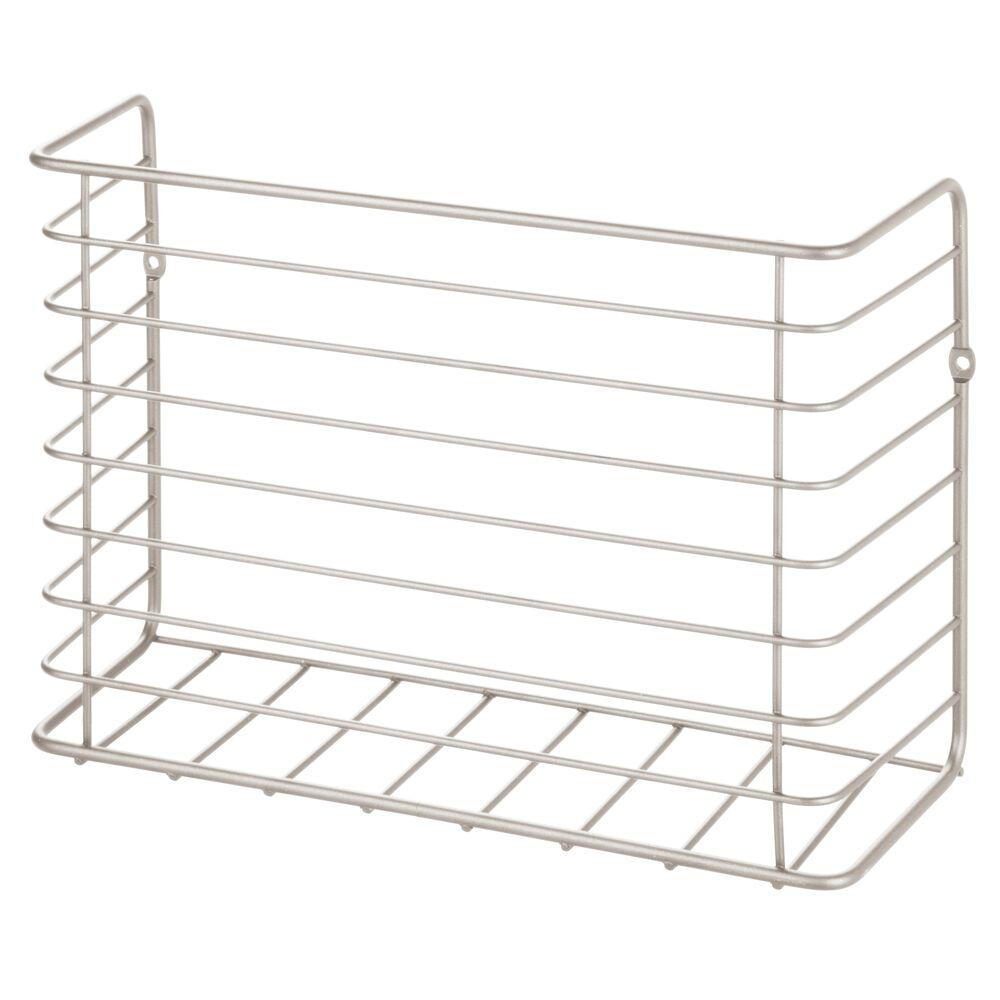 mDesign-Metal-Wall-Mount-Magazine-Holder-Storage-Organizer-Rack thumbnail 48