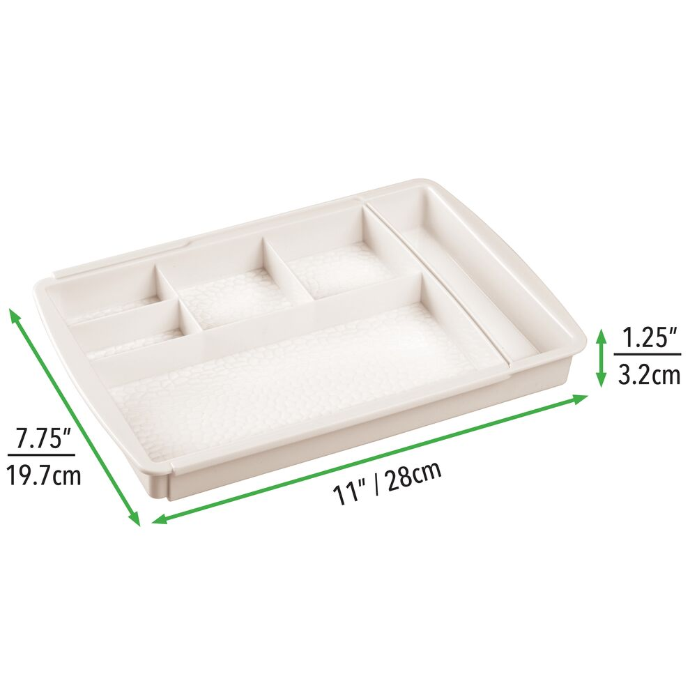 mDesign-Expandable-Makeup-Organizer-Tray-for-Bathroom-Drawers thumbnail 20