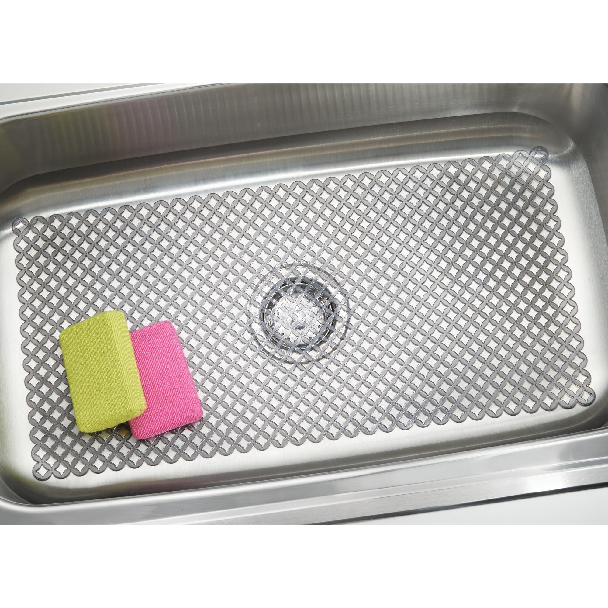 Mdesign Plastic Kitchen Farmhouse Sink Protector Mat X