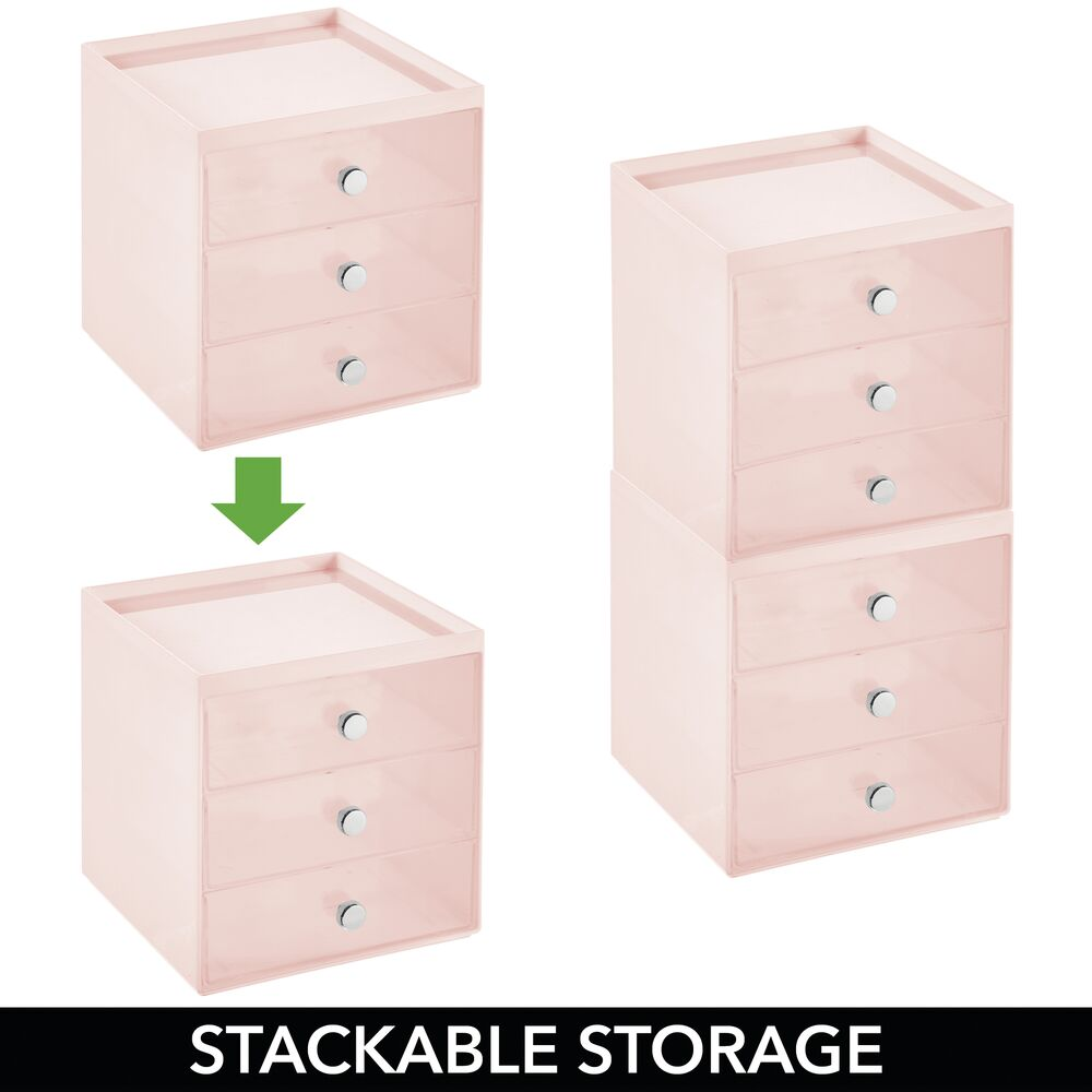 mDesign-Plastic-Makeup-Storage-Organizer-Cube-3-Drawers thumbnail 47