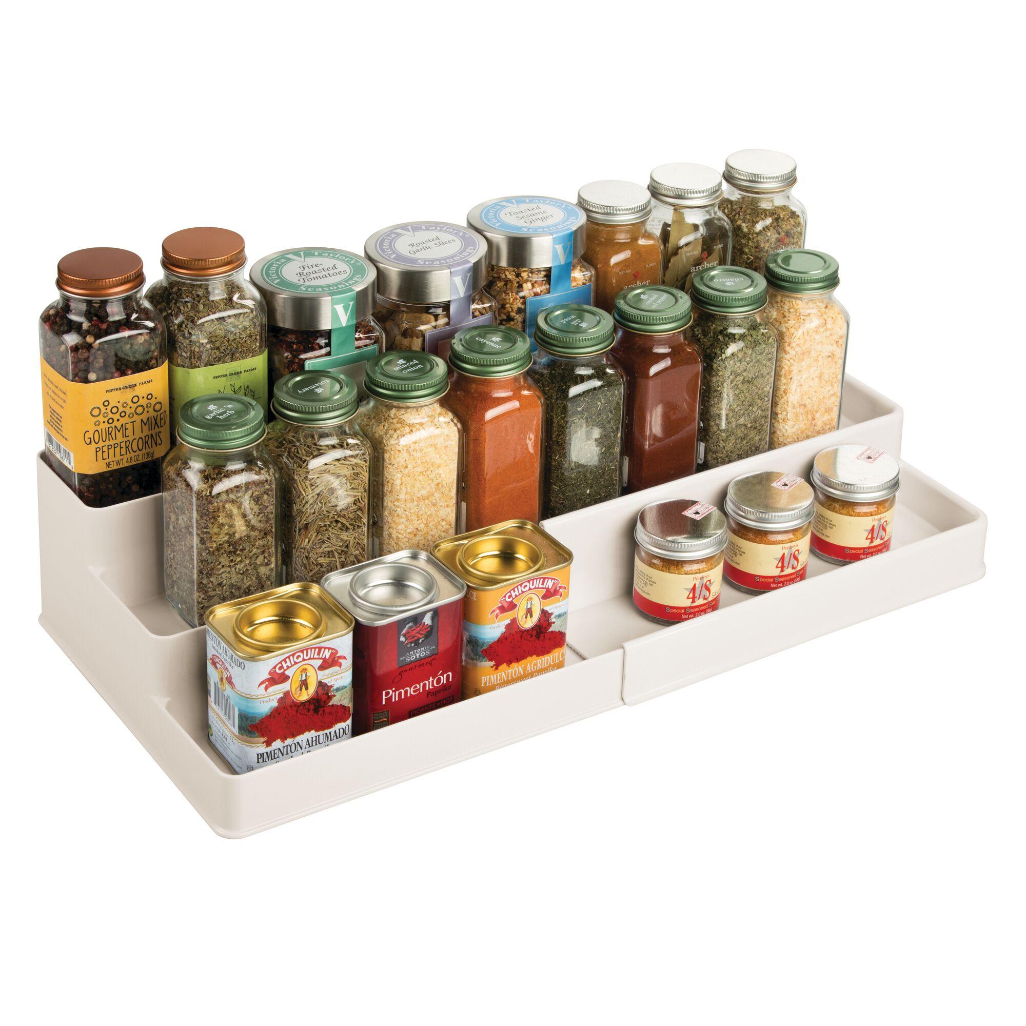 mDesign-Expandable-Kitchen-Cabinet-Pantry-Organizer-Spice-Rack thumbnail 37
