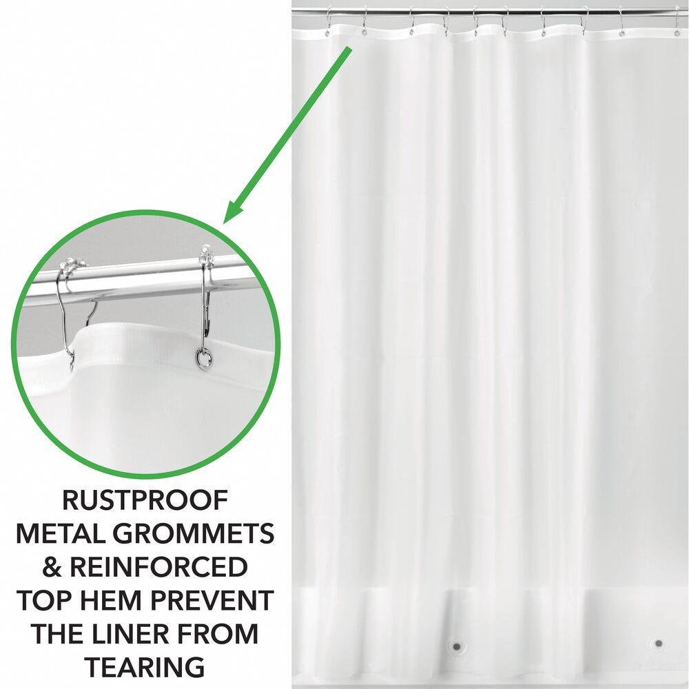mDesign-Premium-Waterproof-Vinyl-Shower-Curtain-Liner-72-034-x-72-034 miniatuur 26