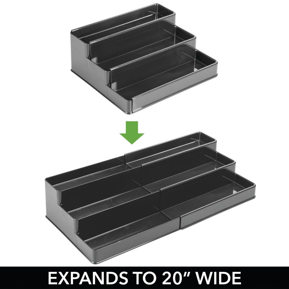 mDesign-Expandable-Kitchen-Cabinet-Pantry-Organizer-Spice-Rack thumbnail 24