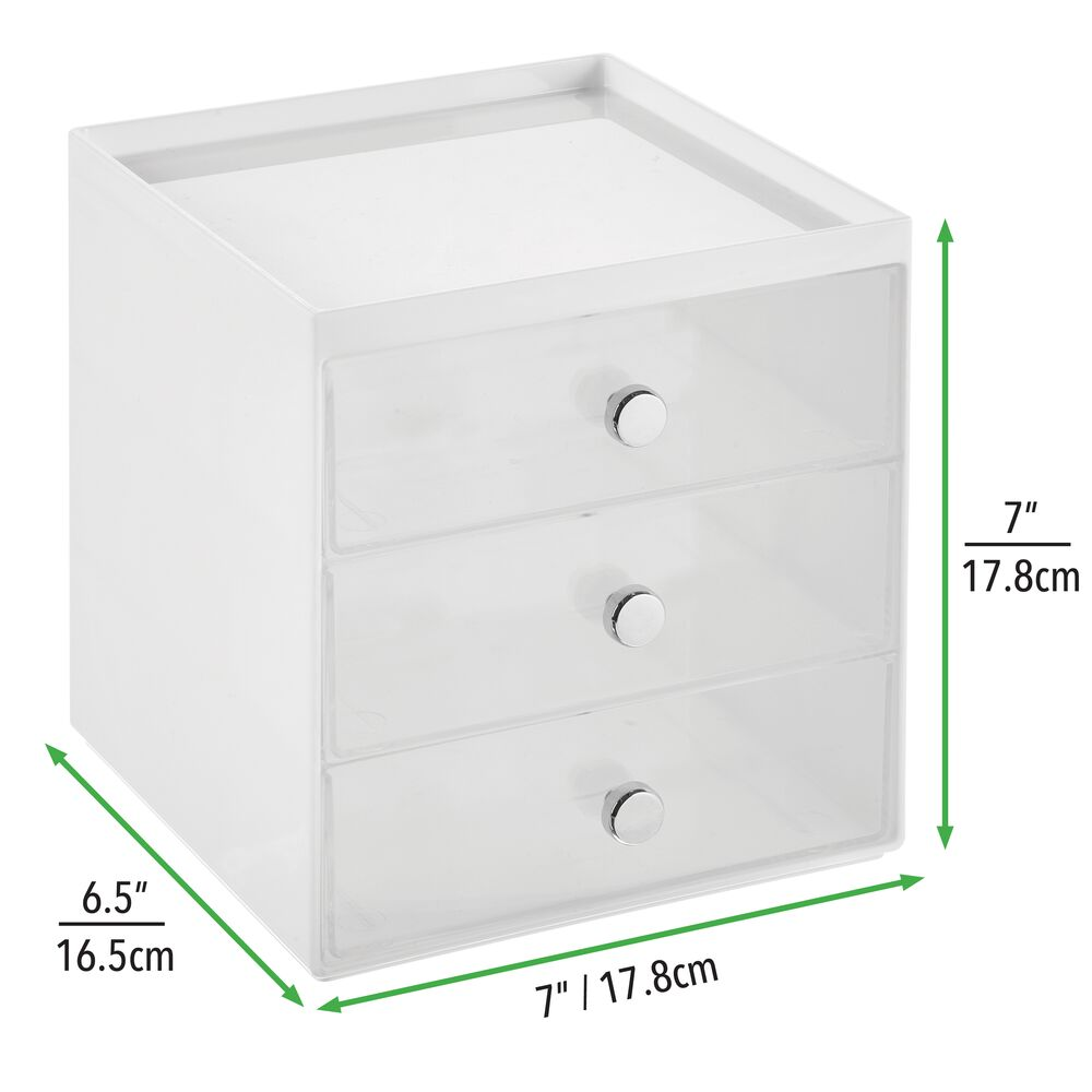 mDesign-Plastic-Makeup-Storage-Organizer-Cube-3-Drawers thumbnail 74