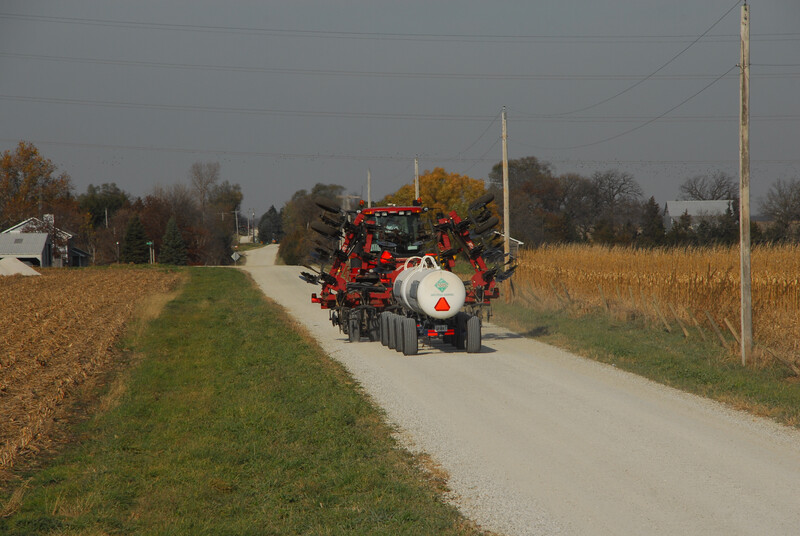 Farm equipment on rural road 08