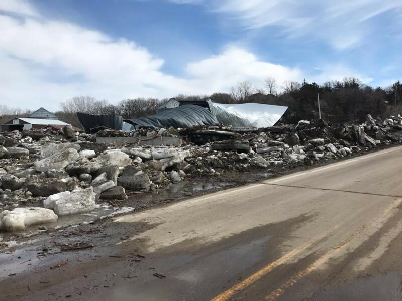 Nebraska Flooding Damage Grain Bin Ice