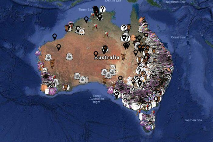 Aussie Farms Google Map
