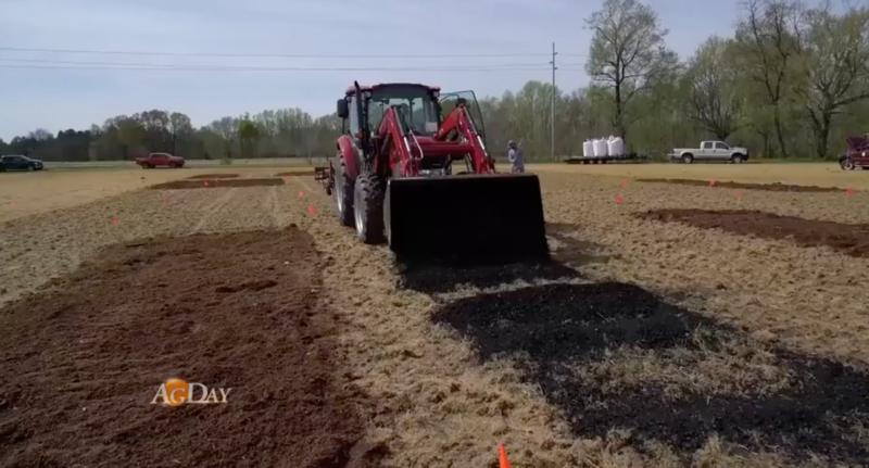 Biocharring Tennessee fields
