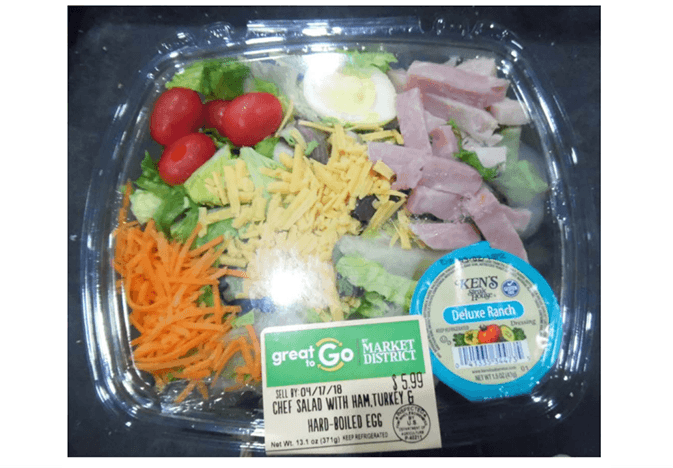Great to Go salad recalled