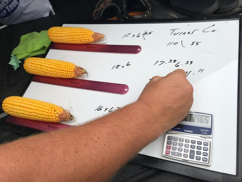 Pro Farmer Midwest Crop Tour scouts on the Western leg kicked off their day in South Dakota. By 9:00 a.m. Iowa farmer Matt Chambers had already hit three corn and soybean fields.