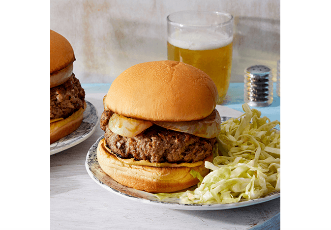 Blue Apron blended burger
