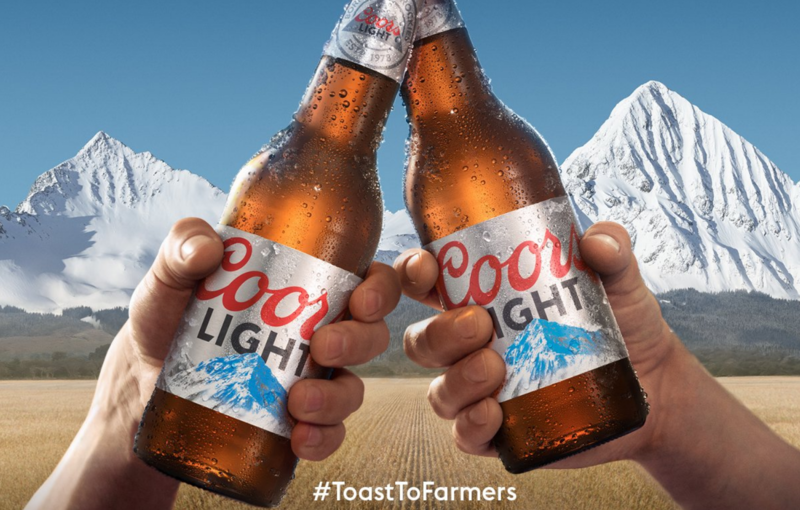 Coors Light Toast to Farmers