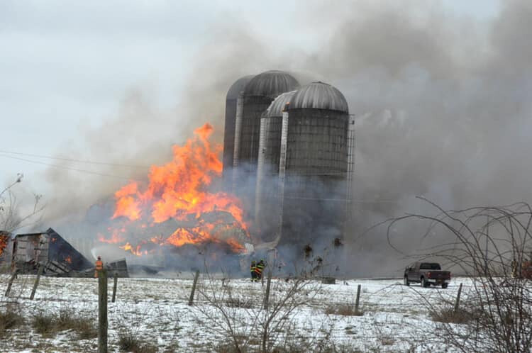 Trenton New York Barn Fire