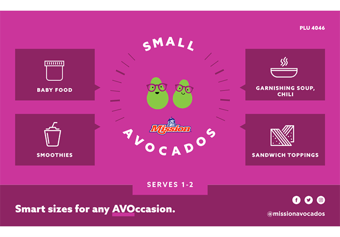mission small avocado point-of-sale material