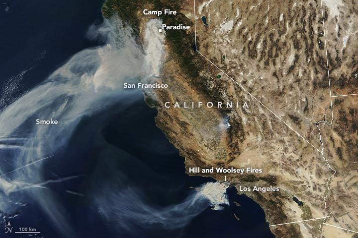 california-fires-NASA