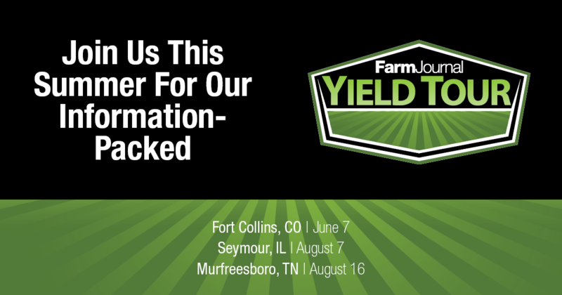 Farm Journal wants to help you address your agronomic management and technology use this season with its 2018 Yield Tour program. The Tour is scheduled this Thursday in Murfreesboro, Tenn.