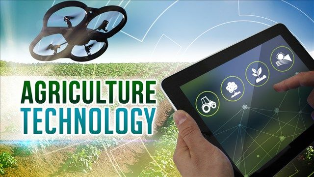 Drone technology on farm