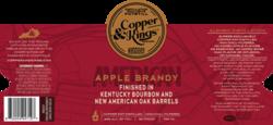 Copper & Kings American Apple Brandy 750ml Label